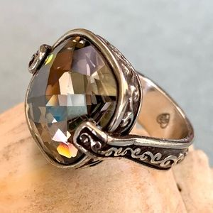 Brighton Venus Rising Pewter Swarovski Crystal Ring
